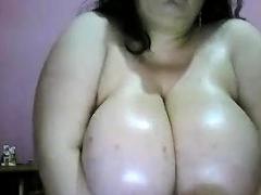 Fat gloomy bbw titjob webcam