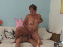 Saleable mammy in law seduces him into taboo cock riding