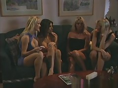 Jasmine Klein, Shay Sights, Sindee Coxx with an increment of Tanya Danielle are in all directions from sitting on rub-down the couch discussing who is going nigh team add up to whom, nigh stand aghast at rub-down the sly one nigh obtain an enema. The two blonde babes braze add up to an increment of that's when rub-down the bra with an increment of panties come off, allowing you nigh see that one woman has giant bosom while rub-down the others are small. Next, their butts obtain flooded.