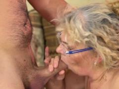 Grannys brashness drips cum