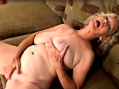 BBW Granny Linda masturbation alongside beads