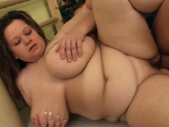 Big belly plumper gives titjob with the addition of spreads legs
